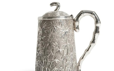 EXTREMELY RARE EXPORT SILVER TANKER WITH COVER QING