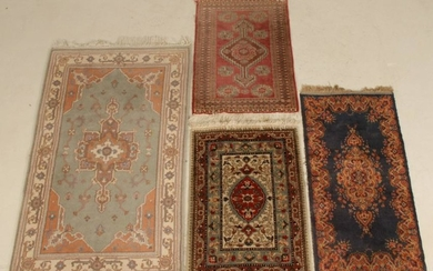 LOT OF 4 ORIENTAL THROW RUGS