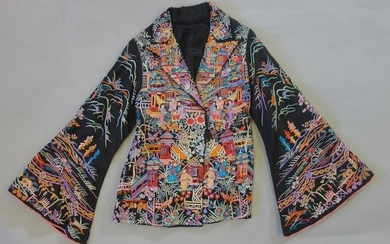 Ladies Asian Embroidered Silk Jacket