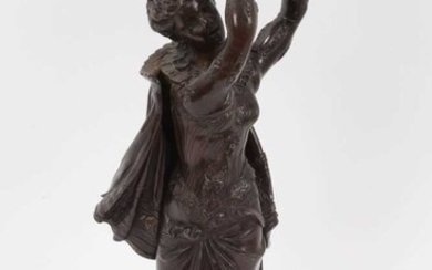 Late 19th / early 20th century Continental bronze figural lamp stand