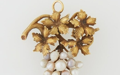 Late Victorian 18K Yellow Gold Brooch/Pendant, c. 1900