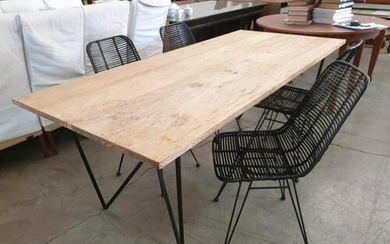 Modern / Designer Rectangular Dinning Table with Solid Wood ...