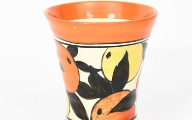 Oranges and Lemons' a Clarice Cliff small vase,...