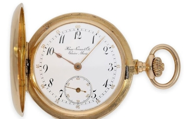Pocket watch: very rare and very fine gold hunting case quarter repeater, Haas Neveux & Cie, Genève & Paris No.16015 'Exposition Nationale De Genève 1896