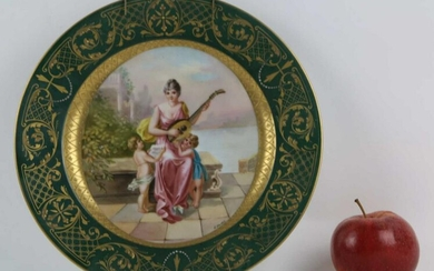 ROYAL VIENNA VERY FINE HAND PAINTED PORTRAIT PLATE
