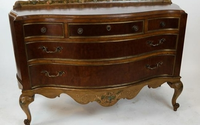 Rococo-Style Maple Serpentine Chest of Drawers