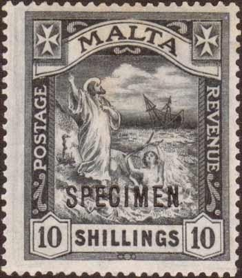 SPECIMEN OVERPRINTS ON 10/- VALUES INCL. RARE 1919 WMK MCA: ...