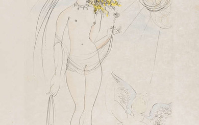 Salvador Dali (1904-1989) Venus et L'Amour (from Mythologie Nouvelle) (Field 1-8-D; M&L 483b)