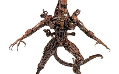 Steampunk Artisan Crafted ALIEN Statue after Giger