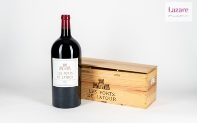 THE FORTS OF LATOUR, Pauillac. Original wooden case made up...