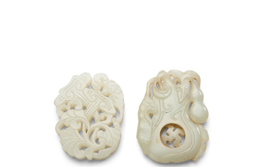 Two fine jade plaques