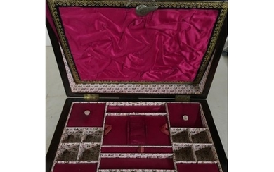 Victorian rosewood Mother of Pearl inlaid combination work b...