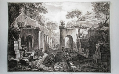 View of the Gate of the City of Pompeii