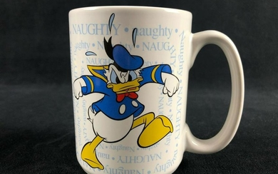 Vintage Classic Donald Duck Mad Naughty Ceramic Coffee