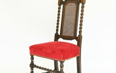 WILLIAM AND MARY STYLE BARLEY TWIST SIDE CHAIR