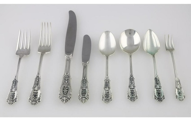 Wallace Sterling Rosepoint Flatware Set 116 pieces
