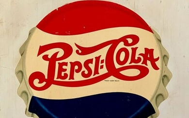 c. 1940 Pepsi-Cola sign on wood, New England Country