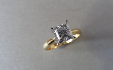 1.00 ct diamond solitaire ring with a princess...