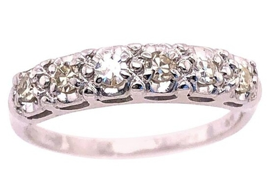 14 Karat White Gold Diamond Band Wedding Anniversary