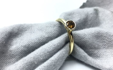 14 kt. Yellow gold - Ring - 0.40 ct Citrine