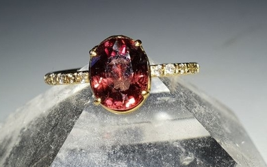 18 kt. Gold - Ring - 2.63 ct natural Zircon - Diamond
