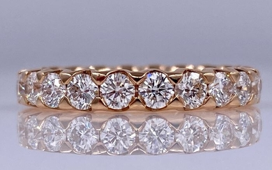18 kt. Rose gold eternity / eternity ring with 2.10ct diamonds - Without reserve price!