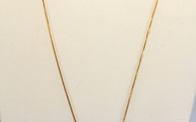 18 kt. Yellow gold - Necklace with pendant Coral - Diamonds