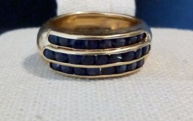 18 kt. Yellow gold - Ring - 0.30 ct Sapphire