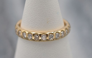 18 kt. Yellow gold - Ring - Diamonds