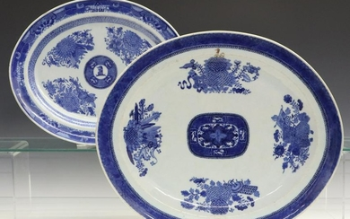 2 Chinese Export Fitzhugh Platters