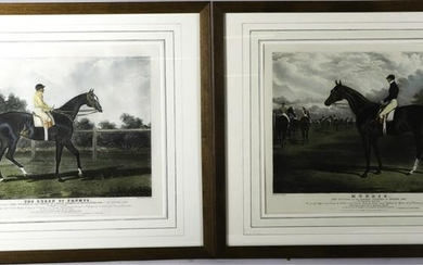 (2) HAND COLORED ENGRAVINGS OF THOROUGHBREDS