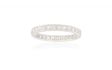 Description A DIAMOND ETERNITY RING, CIRCA 1950 The continuous...