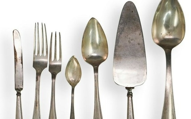(46 Pc) Silver Plated Utensils