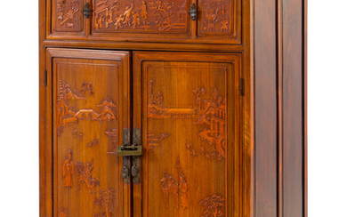 A Chinese Carved Hardwood Cabinet