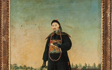 """A Chinese export painting """"Prime Minister of the..."""