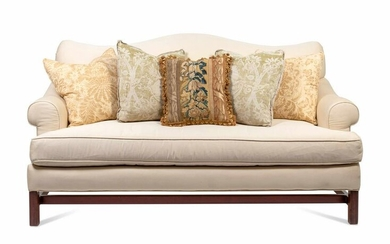 A Chippendale Style Camelback Sofa Height 36 3/4 x