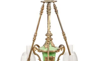 A Continental Gilt Bronze and Glass Chandelier