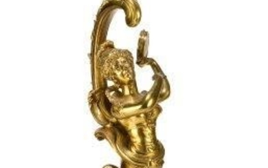 A Continental ormolu figural candlestick, 19th century,...