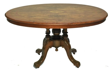A Dutch inlaid mahogany occasional table