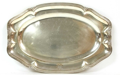 A French silver serving dish