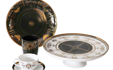 A Limited Edition Set of Modern Contemporary Raja Porcelain Tableware