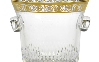 A ST LOUIS 'THISTLE PATTERN' GLASS WINE-COOLER, 20TH CENTURY, ACID ETCHED FACTORY MARK