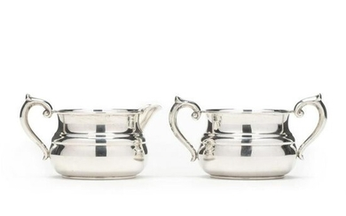 A Sterling Silver Creamer and Sugar by Gorham