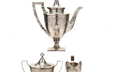 A Sterling Silver Tea Set by Baltimore Silversmiths