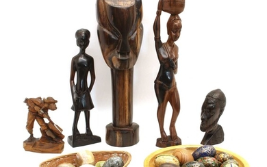 A collection of various tribal figures of varying heights
