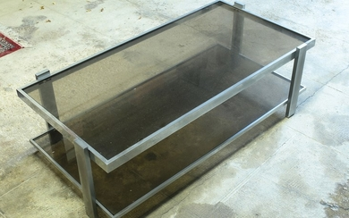 A design table and a serving table