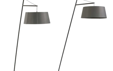 A pair of contemporary lamps