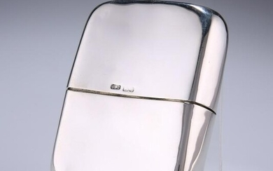AN EDWARDIAN SILVER HIP FLASK by Cohen & Charles