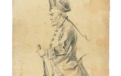 Alexander Orlowski (1777-1832), Gentleman with a pigtail; Portly gentleman; Sailor; and Gentleman with a riding crop