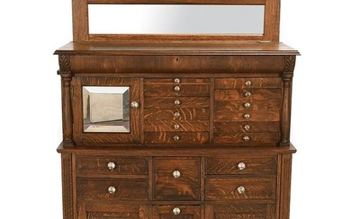 American Cabinet Co. Neoclassical Style Carved Oak Type
